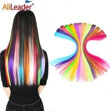 Alileader Clip Auf Haar Verlängerung 57 Farbe Ombre Gerade Haar Verlängerung Clip In Haarteile Hohe Temperatur Faber Haar Stück