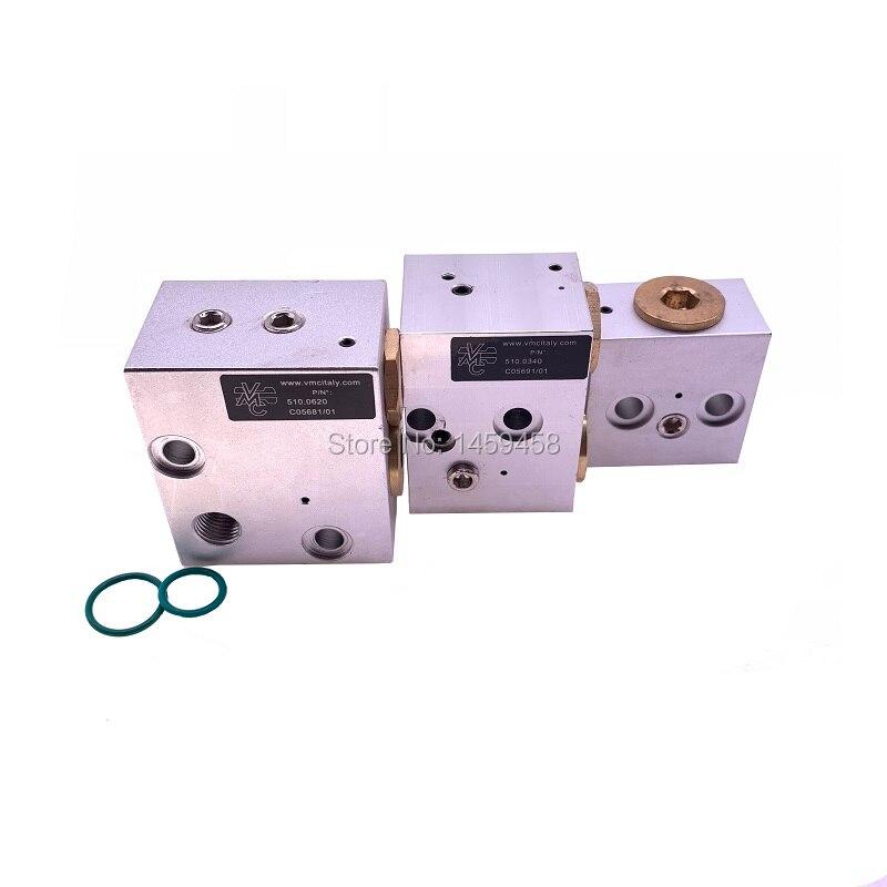 شحن مجاني 4 قطعة/الوحدة التنفيس صمام ضربة أسفل قبالة صمام ل VMC R20/R40/R90 modle كتلة