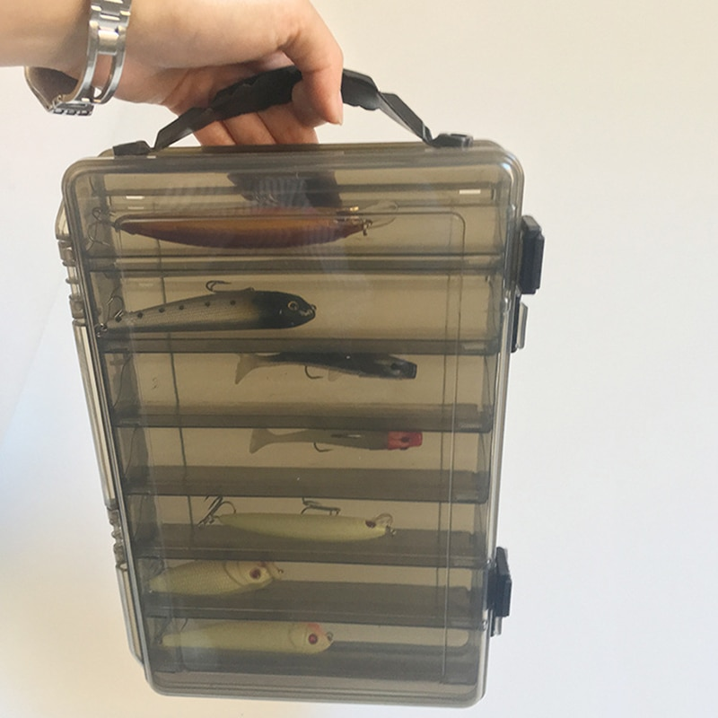Large-capacity Fishing Tackle Box Double-decker Sub-bait Box Portable  Bait Fishing Gear Storage Box