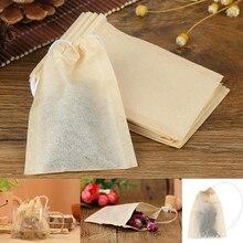 100Pcs/Lot Tea Bag Filter Paper Bags Empty Drawstring Teabags For Herb Tea