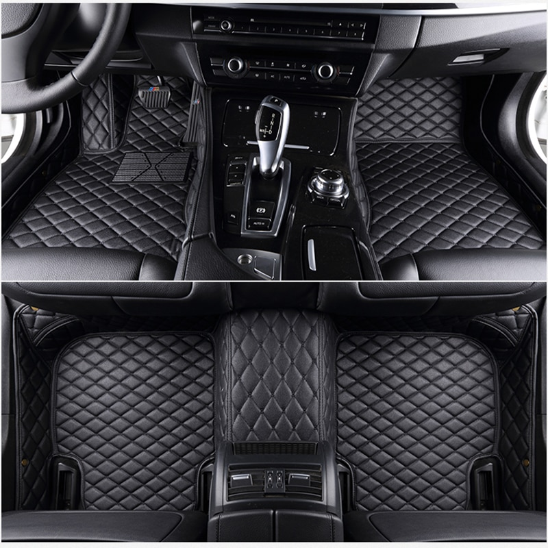 Flax Car Floor Mats Fit 98% Car Model For Toyota Lada Renault Kia Volkswage Honda BMW BENZ accessories foot Covers