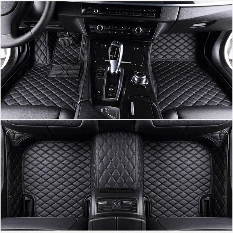 7 alfombrillas de cuero para coche ems aptas para 98% modelo de coche para Toyota Renault Kia Volkswage Honda BMW BENZ accesorios esteras de pie