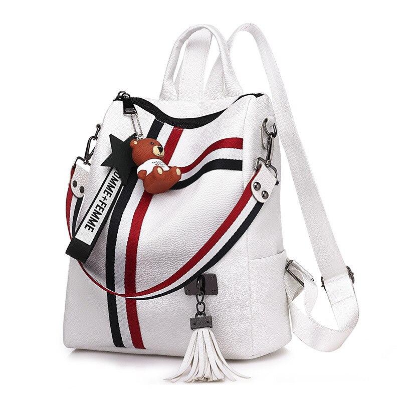 Женские кожаные рюкзаки 2021, Модный женский рюкзак, рюкзак, школьные рюкзаки с защитой от кражи для девочек, женские сумки, женские сумки