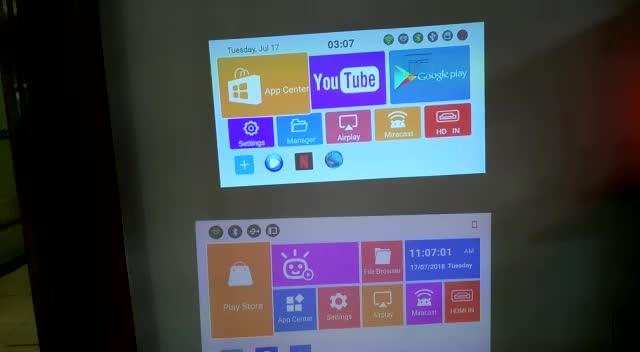 Salange-جهاز عرض صغير مزود ببطارية 8000 مللي أمبير في الساعة ، وفيديو 4K ، و android 6.0 ، وذاكرة وصول عشوائي 2 جيجابايت ، وذاكرة قراءة فقط 16 جيجابايت ، وبل...