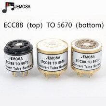 1 шт. ECC88 E88CC 6922 6DJ8 6N11 трубка (сверху) до 5670 396A 6H3N трубка (снизу) DIY аудио усилитель вакуумная трубка преобразования гнездо адаптера