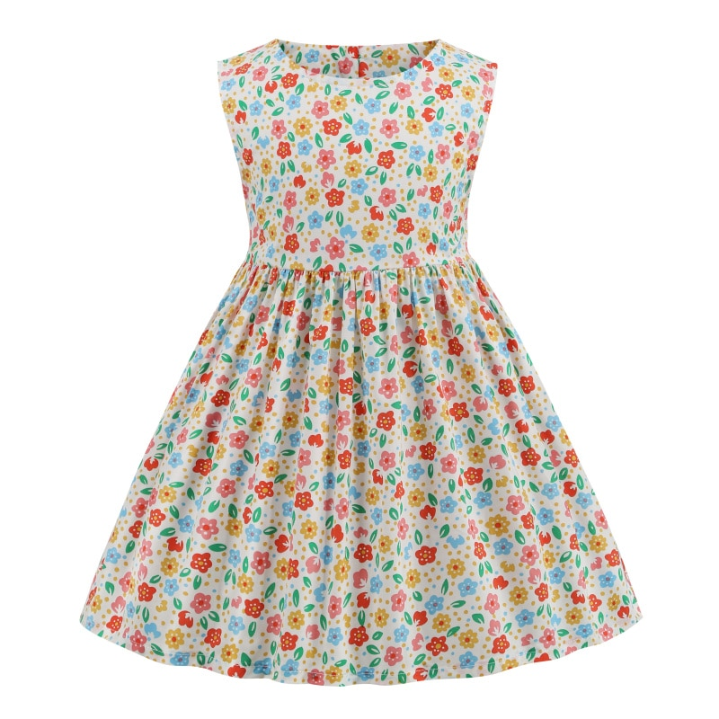 Dress Kids Clothes Baby Girls Casual Birthday Floral Summer Beauty Elegant Cute Kawaii Pink Cotton Pastel Free Shipping Costume