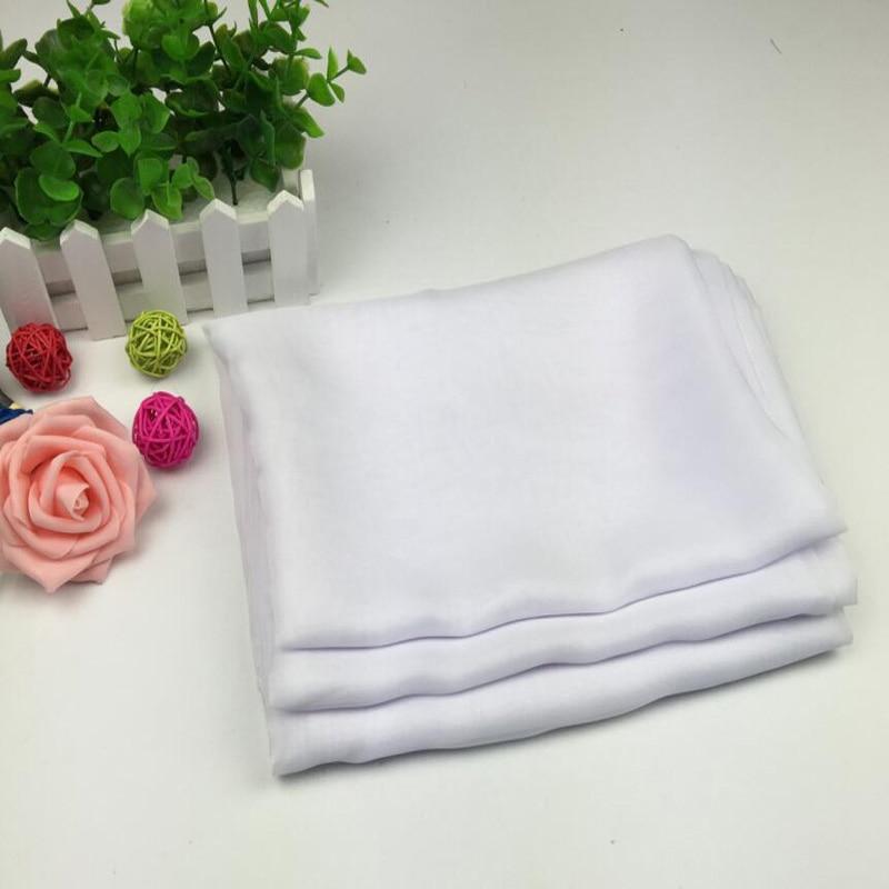 Tela Blanca de gasa sedosa 100% poliéster peso ligero transparente para forro de vestido de Cosplay