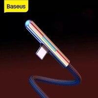 Светодиодный usb-кабель Baseus type C, зарядное устройство usb C быстрая зарядка для телефона huawei Mate30 4A провод для быстрого заряда для samsung Xiaomi usb C каб...