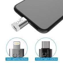 Desinfección UVC portátil UV LED luz teléfono móvil USB interfaz enchufe fuente de alimentación fábrica OEM al por mayor 275 nm UVC Programa 1pc