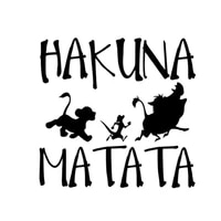 funny hakuna matata lion king simba car sticker automobiles motorcycles exterior accessories vinyl decal for audi a3 ford