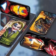 Marvel Captain Phone Case For Huawei Y5  Y7 Y6 Prime 2018 Y5 Lite Y9 Y7 2019 Iron Man Black TPU For Huawei Y6 Y5 2017 Case Cover