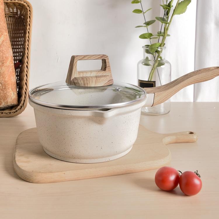 وعاء من الألومنيوم للحليب ، الحساء ، مقاوم للحرارة ، طباخ المعكرونة ، جودة عالية ، غير لاصق ، Marmite ، أدوات المطبخ ، DE50NG