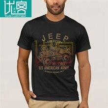 JEEP 2020 nouveau Cool T-shirt américain légende armée véhicule noir T-shirt S-3XL hommes et femmes Phiking imprimer pièce décontracté coton