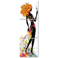 Toile de peinture coloree pour filles  affiches murales  Art nordique  decoration moderne pour la maison