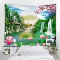 3d landscape waterfall landscape decoration tapestry mandala decoration tapestry bohemian decoration tapestry bedroom tapestry