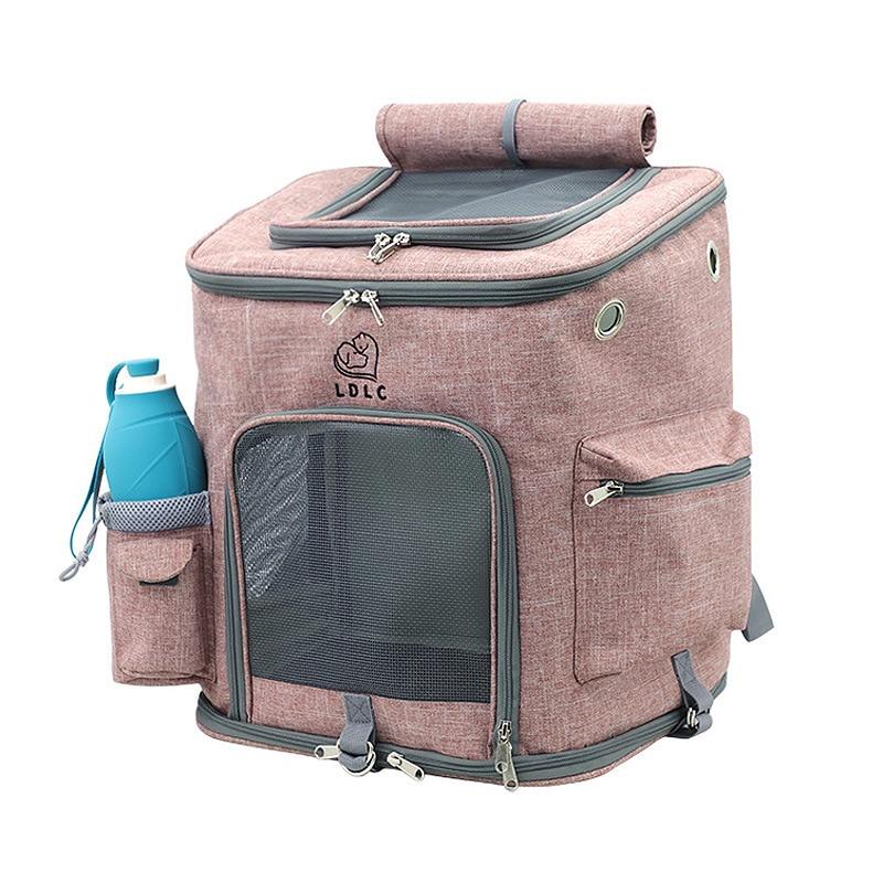Сумка-переноска для кошек, складная с дышащими отверстиями, с двойной дверью, для путешествий и собак