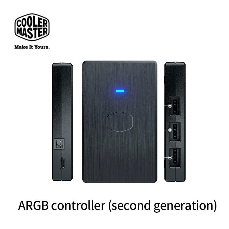 برودة ماستر ARGB تحكم الجيل الثاني 5 فولت 3Pin ARGB اللوحة الأم مزامنة وحدة المعالجة المركزية برودة حافظة/حقيبة ذراع التحكم بالألعاب مروحة كابل Hub