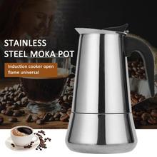 Tasse à café en acier inoxydable 2/4/6/9/12   Mocha expresso Latte Stovetop filtre Moka cafetière pour cuisine