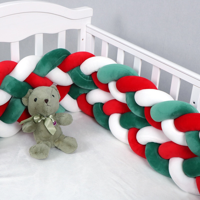 Baby Crib Bed Bed Circumference Christmas Style Knotted Fence Home Baby Crib Bed Circumference Protect Babies From Collisions