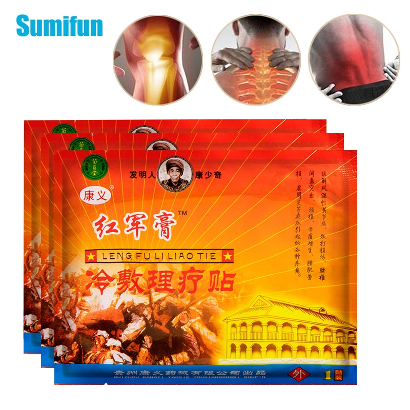 6bags Chinese Natural Herbal Extract Arthritis Joint Pain Relief Patch Body Back Knee Neck Muscle Ache Treatment Sticker C1913