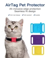 dog collar silicone protective case for airtag anti lost locator cover for airtags pet collar adjustable gps finder