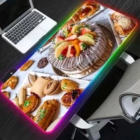rgb cake picture mouse pad computer equipment keyboard led light gaming player large desk mat pc mousepad ordinary carpet mat