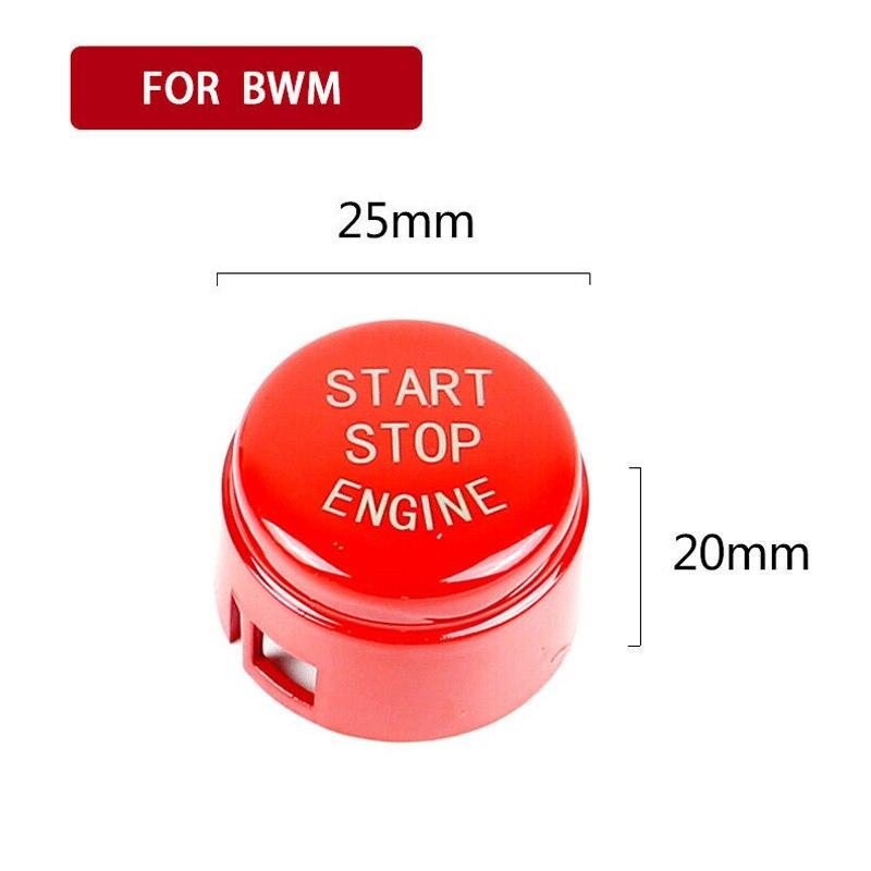 Para bmw f20 f30 f10 f01 f48 f15 f16 início botão capa abs interior decalque interruptor acessórios do painel