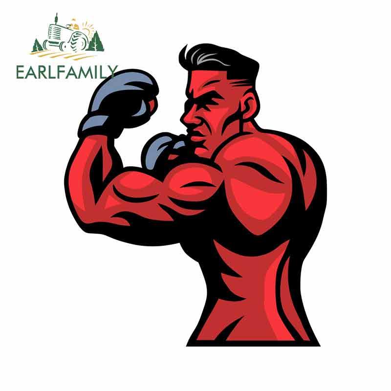 EARLFAMILY, 13cm x 11,3 cm para MMA Fighter Mascot, pegatina fina de dibujos originales, pegatinas de coche de dibujos animados, decoración personal