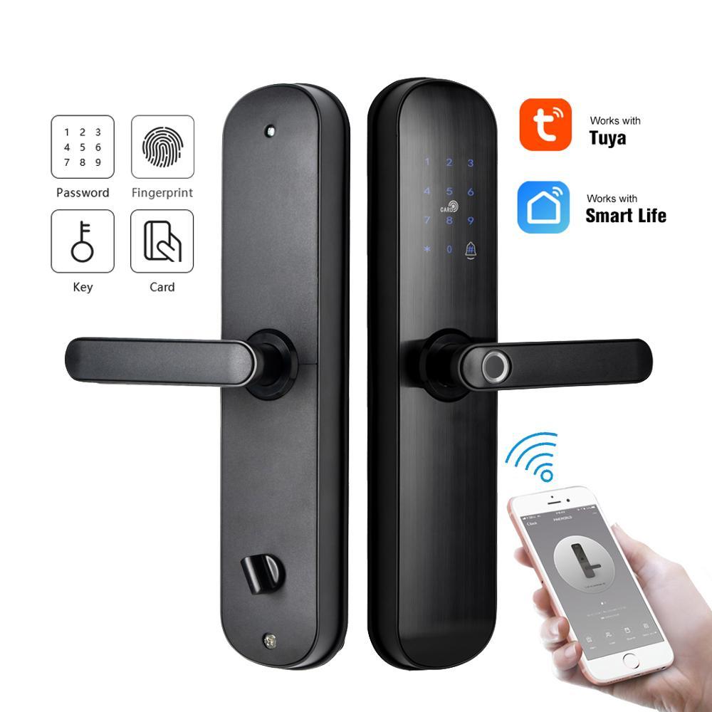 Promo YOHEEN Wifi App Door Lock With Tuya App, Smart Biometric Fingerprint Intelligent Lock With Password RFID card