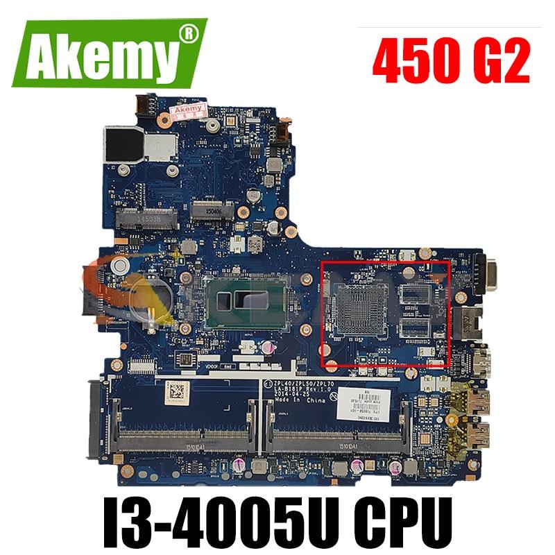 782951-001 782951-601 para HP Probook 450 G2 I3-4005U Laptop Motherboard ZPL40/ZPL50/ZPL70 LA-B181P SR1EK DDR3 Notebook Mainboard