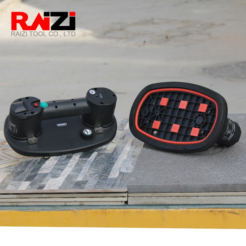 Raizi Grabo Electric Vacuum Suction Cup Liter Holder 170 kg capacity for Wood Granite Glass Large Format Tile Lifting Tool enlarge