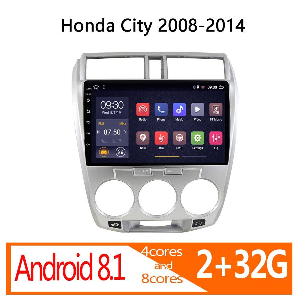 Radio para coche android 2G + 32G para Honda City 2008 2009 2010 2011 2012 2013 2014 audio de coche ESTÉREO
