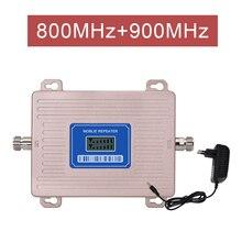 Усилитель Европейского сигнала LTE 800 GSM 900 МГц ретранслятор сотового сигнала 2G 3G 4G двухдиапазонный усилитель LTE полоса 20 полоса 8 ЖК-дисплей @