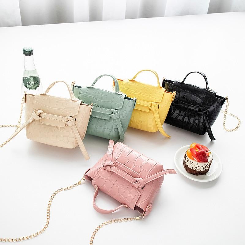 Women Solid Leather Shoulder Bag Women Fashion PU Leather Shoulder Small Zipper Crossbody Handbags T