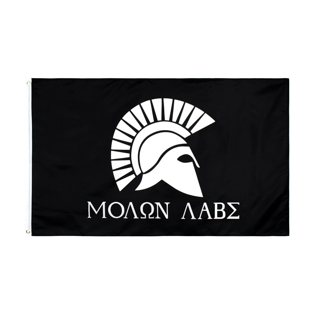 Xiangying 90x150cm Griechischen Spartan Molon Labe Flagge