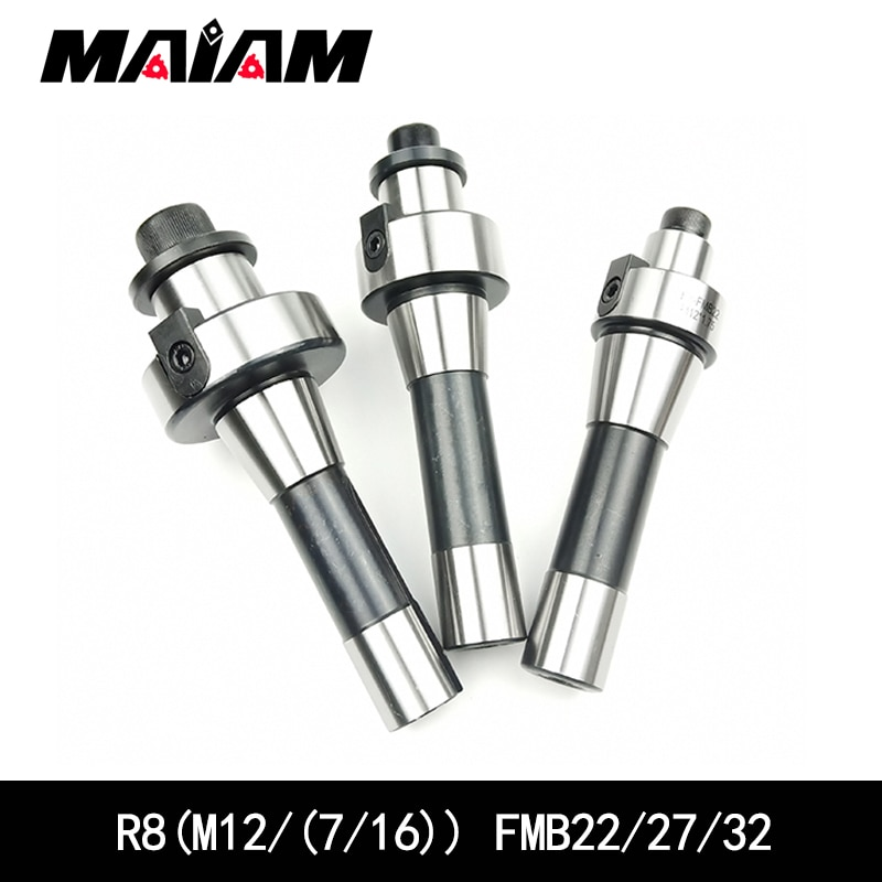 R8 FMB22 FMB27 FMB32 Rosca 7/16 ferramenta titular r8-fmb22 r8-fmb27 r8-fmb32 para bap400r M12/bap300r,emt5r,emr6r rosto cortador moinho