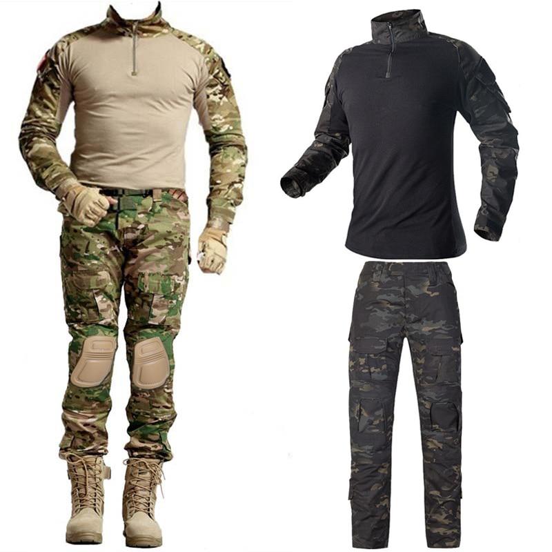 Outdoor Airsoft Paintball Clothing Military Shooting Uniform Tactical Combat Camouflage Shirts Men Pants Army Germen Uniform us army military uniform for men custom combat shirt