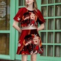 crop skirt yugi amane yahiro nene anime cosplay toilet bound hanako kun casual 3d kawaii streetwear t shirt sexy dress women