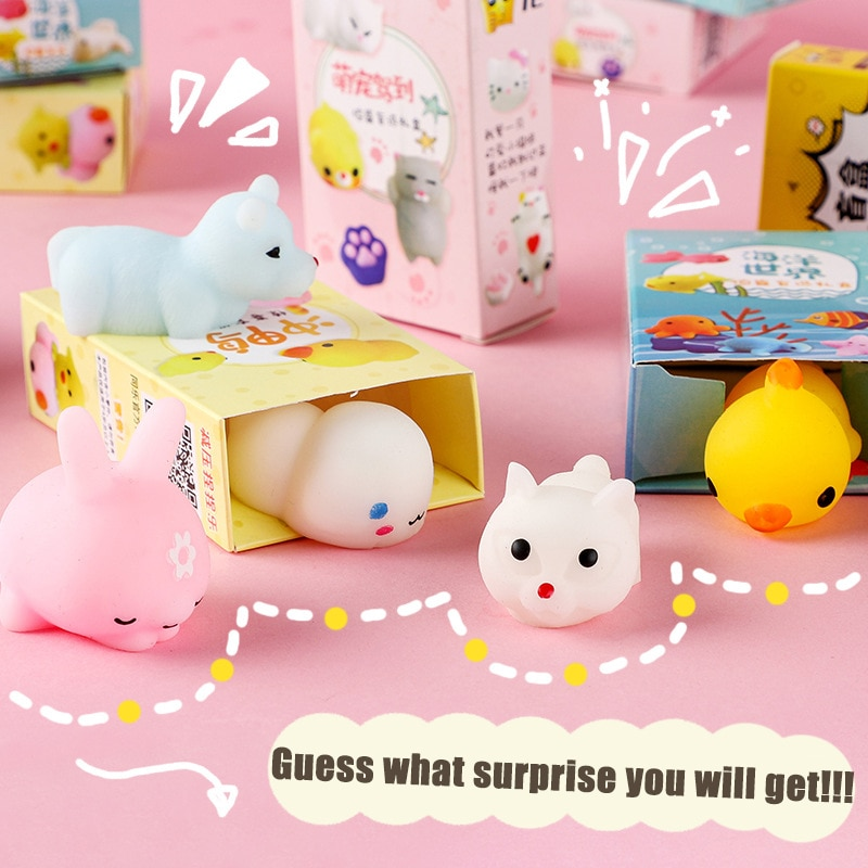 24 Style Random Surprise Box Fidget Toys Fun Soft Squeeze Different Cute Kawaii Kids Adult Stress Relief Funny Gift Toys enlarge