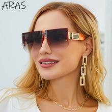 Rimless Women Sunglasses Retro Oversized Square 2021 Luxury Brand Designer Sun Glasses For Woman Men