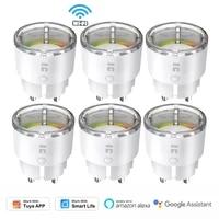 1-8PCS TREKSTOR Smart Socket Tuya Smart Life WiFi Remote Control 10A EU Plug  Timer Power Monitor Alexa Google Home Automation