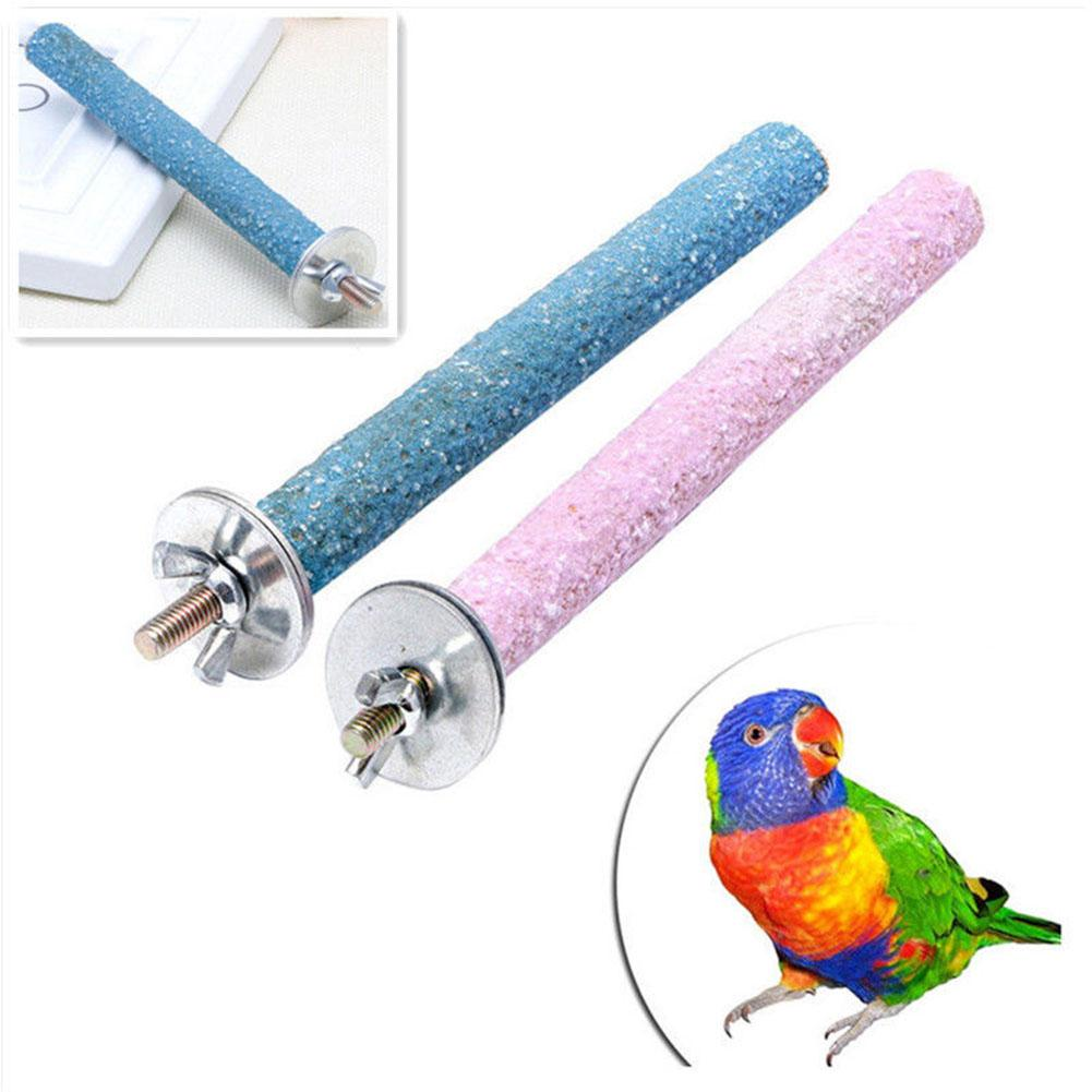 AliExpress - 14CM Pet Parrot Budgie Chew Bite Paw Grinding Rod Toy Bird Cage Play Stand Perches Pet Supplies for Small Sized Birds