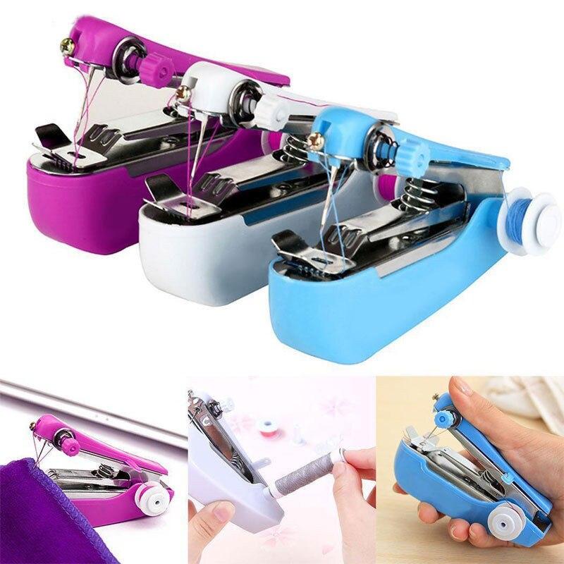 Handheld mini máquinas de costura sem fio inteligente máquina de costura elétrica rápida acessível costura tecido roupas crianças pano fácil stitcher