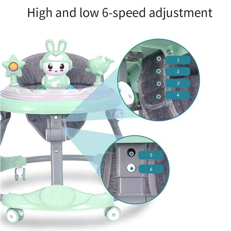 Baby Walker With Wheel Multifuctional Toddler Trolley Sit-to-Stand Learning Walker Toys Activity WalkerFor Kids Baby Favor Gifts