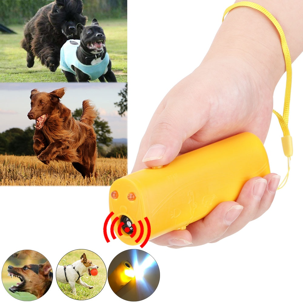 Ultrasonic 3 in 1 Pet Dog Repeller Pet Dog Training Device Equipment Stop Barking Living Room Pest Control Anti Barking