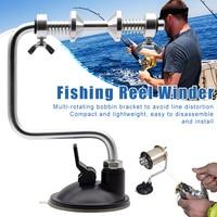 Fishing Line Winder Portable Lightweight Spooler Machine Spin Reel Station System EDF88
