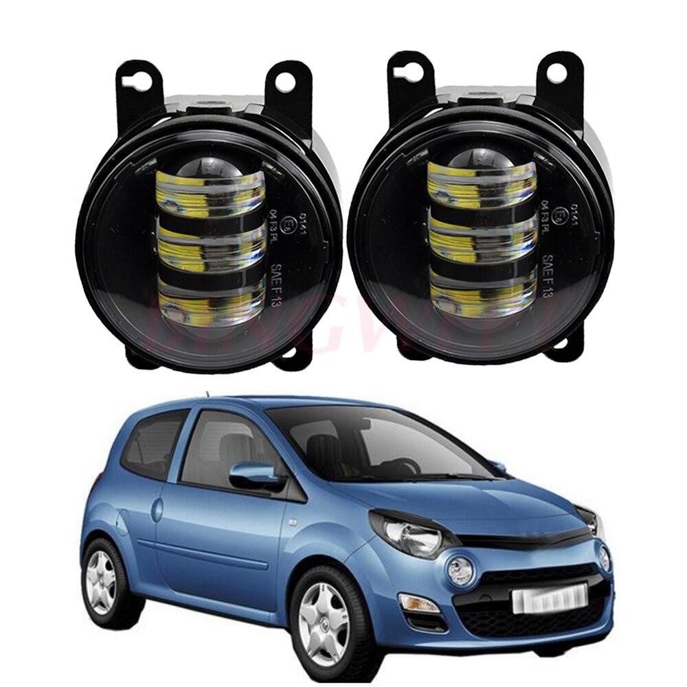 2 uds. Para Renault Twingo II Hatchback CN0 2007-2015 conjunto de faros antiniebla LED lámpara halógena para Thalia Saloon LB0 LB1 LB2