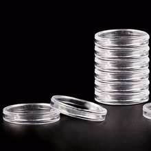 Capsules transparentes de rangement pour pièces de monnaie   10 pièces 40mm, protecteur de pièces rondes, boîtes de collecte pour pièces