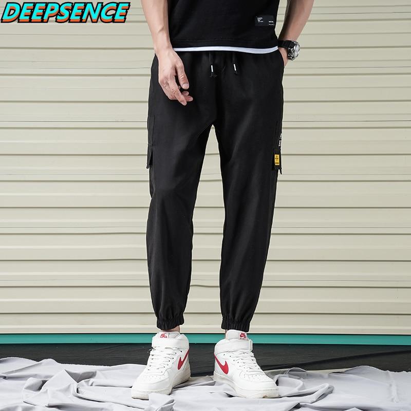 Men 2021 New Spring And Autumn Polyester Pockes Drawstring Carigo Pants Men Casual Regular Cargo Sty