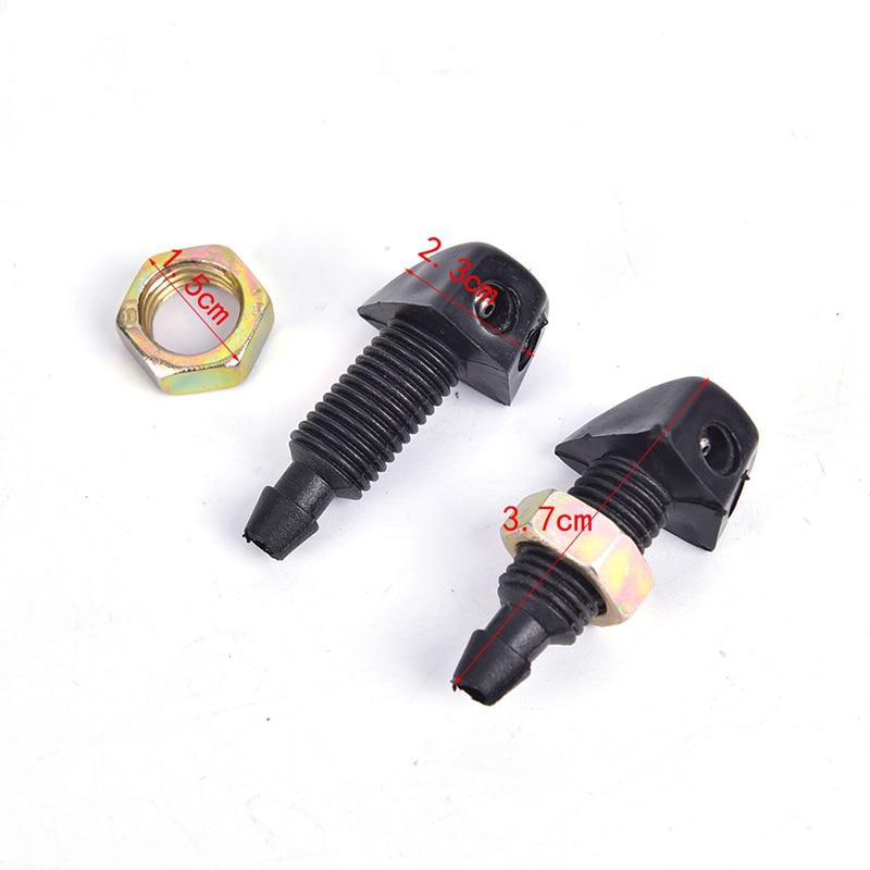 1PC Universal Washer Bonnet Front Windshield Water Sprayer Auto Wiper Jet Nozzle